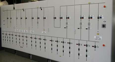 Tableau de commande d'une sous-station de traction