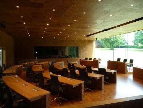 Plenaire zaal van het Parlement van de Duitstalige Gemeenschap